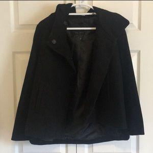 NWOT Zara Basic Outerwear Wool Coat Black Sz M